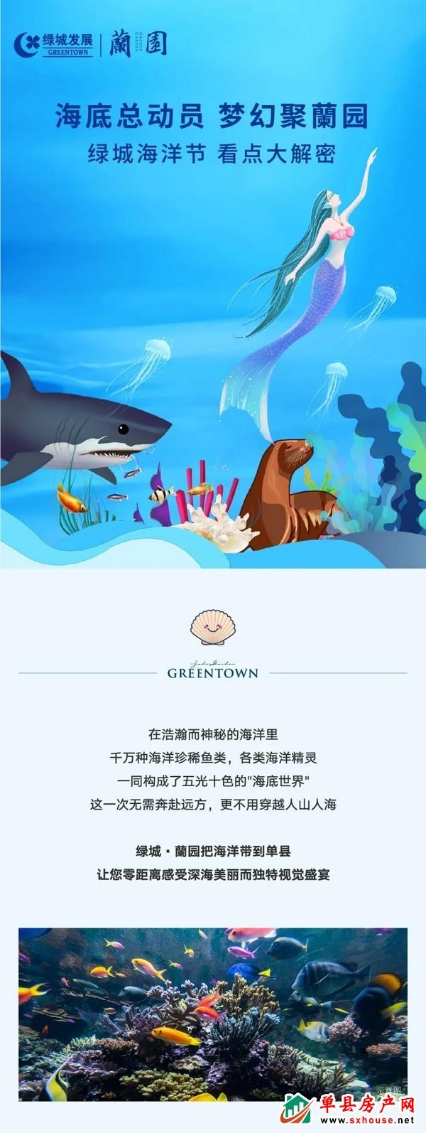海底总动员,梦幻聚蘭园   绿城海洋节,看点大解密